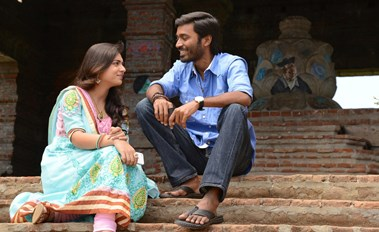 Nazriya Nazim, Dhanush in Naiyandi Tamil Movie Stills
