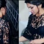deepika padukone's black bra exposed-showbizbites