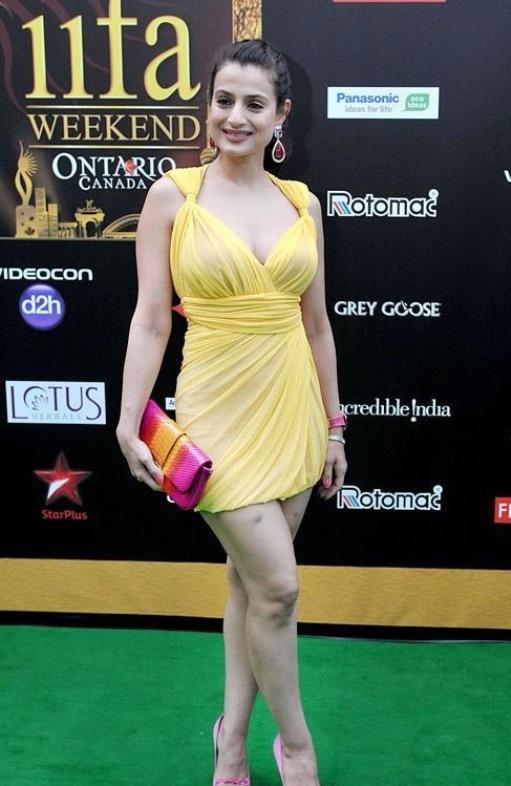Amisha patel yellow bikini show - 1 part 8