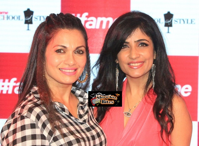 Maria Goretti and Shibani Kashyap at #fame launch