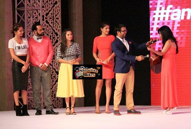 Shibani Kashyap, Anusha Dandekar, VJ Andy & Maria Goretti at #fame launch