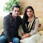 veena malik with hubby-showbizbites