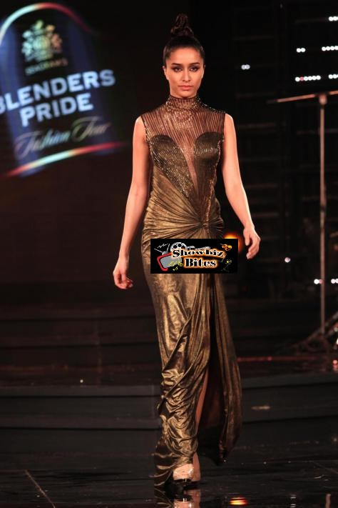 Gurgaon: Actress Shraddha Kapoor durig designer Gaurav Gupta show at the Blenders Pride Fashion Tour 2014, in Gurgaon on November 24, 2014. (Photo: Amlan Paliwal/IANS)