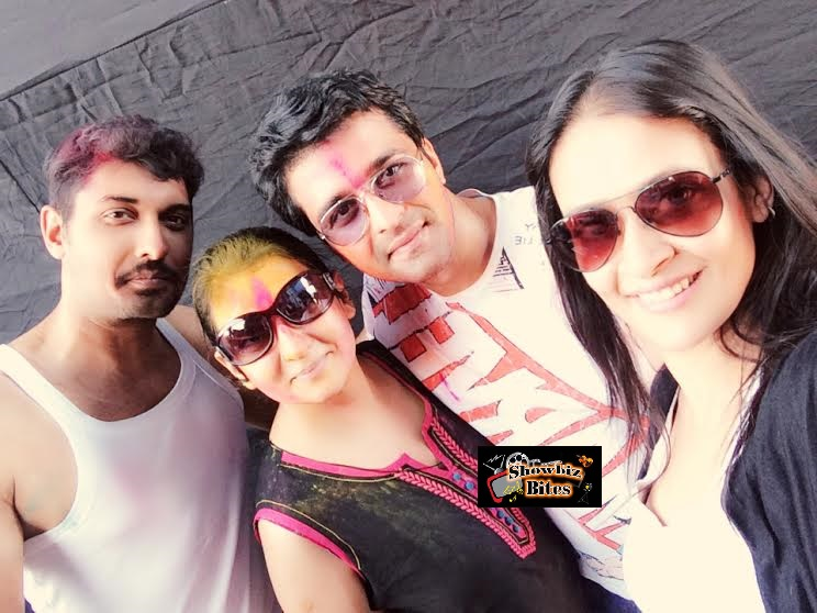 Telly Stars Play Holi