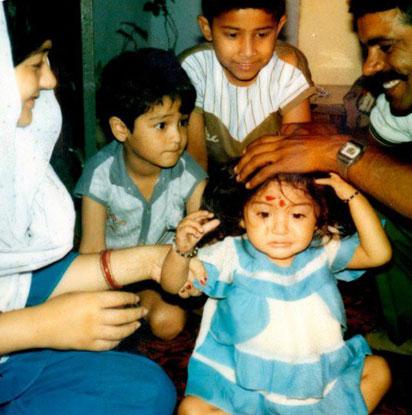 Anushka Sharma Childhood Pictures