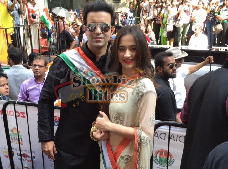 Aamir-Sanjeeda-at Indian Independence Day Parade in US