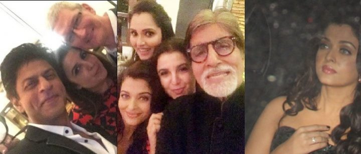 celebs at srk's party for tim cook