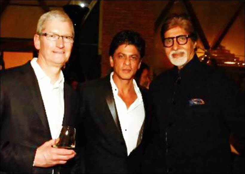 shah rukh khan's party for tim cook