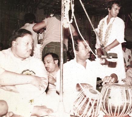 ustad nusrat faeth ali khan at rishi kapoor's wedding ceremony