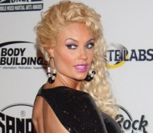 Coco Austin's Skintight Black Number with Bare Back