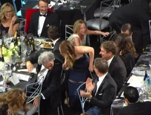 Jennifer Lawrence Wardrobe Malfunction at Screen Actors Guild Awards 2013