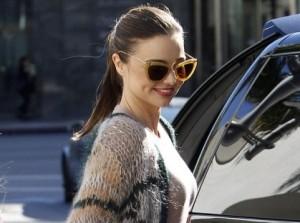 Miranda Kerr's Latest Style – Black Halterneck Dress