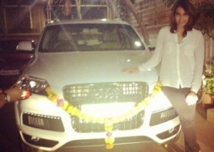 Bipasha Basu's New Style Statement with Her New Swanky Car