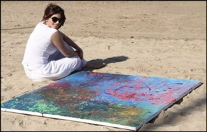 Shama Sikander Lands on the Beach to Draw Paintings