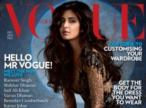 Bollywood's Barbie Doll Katrina Kaif Sizzles on Vogue India Cover