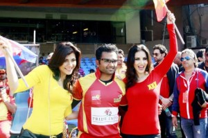 Eye Candy Pictures of Celebrity Cricket League 2014 Fiesta