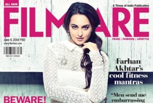 Sonakshi Sinha Looks Sizzling on Filmfare Cover