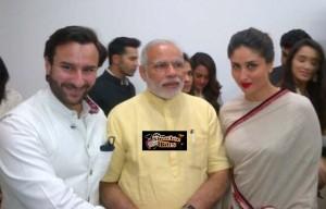 Pic: Saif Ali Khan and Kareena Kapoor Meet Narendra Modi