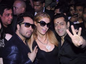 Photos: Paris Hilton at a Private Party with Salman Khan