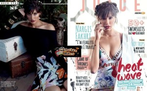 PHOTOS: Nargis Fakhri Goes WILD Showing Deep Cleavage for The Juice Shoot