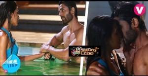 Photo Story: Hot Liplock in Swim Team Channel V Show