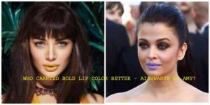 Who Does Bold Lip Color Better – Aishwaraya Rai or Amy Jackson?